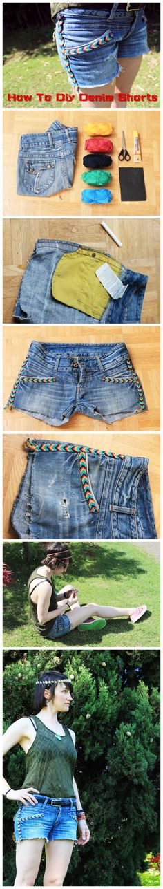 How To #Diy #Denim #Shorts