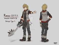 Roxas Design Type A by on DeviantArt Kingdom Hearts Ii, Kingdom Hearts Characters, Kingdom Hearts Fanart, Character Art, Character Design, Character Reference, Character Inspiration, Game Room Kids, Kindom Hearts