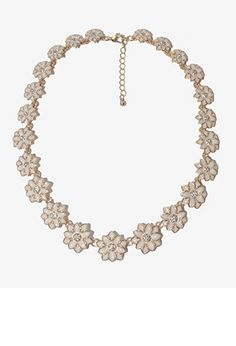 Lacquered Floral Necklace | FOREVER 21 - 1030188002 #foreverholiday