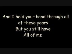 These lyrics are perfect.  Mom...you still have all of me.   Evanescence-My Immortal lyrics - YouTube