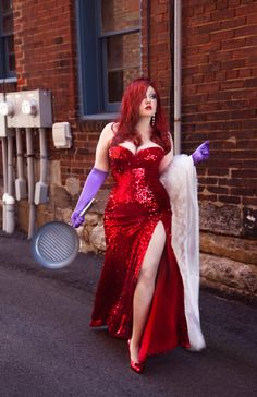 "Jessica Rabbit Cosplay : Sarah Moon looks absolutely stunning cosplaying as the sexy Jessica Rabbit from Who Framed Roger Rabbit... """"I'm not bad, I'm just drawn that way"" ~SarahMoon xoxo"""