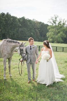 This will be my wedding. Except I will be the one holding the horse.