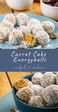 Super tasty - energy balls with carrot, pecans and da .- Super tasty – energy balls with carrot, pecans and dates. A healthy (Easter) alternative to cakes – super soft and juicy, small round Carrot Cake Balls. Cake Basketball, Clean Eating Snacks, Healthy Snacks, Desserts Ostern, Cake Recipes, Dessert Recipes, Snacks Sains, Hummus Wrap, Pecan Nuts