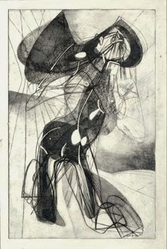 Stanley William Hayter. Amazon. 1945. Engraving, etching, and embossing. British artist who worked in Paris, escaped Europe to come to New York, trained a lot of artists
