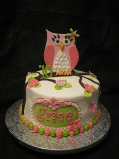 Retro Owl Birthday By LadyD31734 on CakeCentral.com