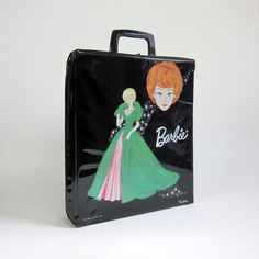 Black Vinyl Barbie Doll Case 1963  still have mine!!  And full of clothes, shoes, hats, purses Sun glasses....