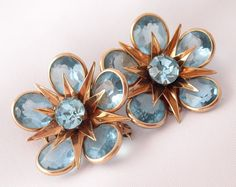 Vintage 12k Gold Plated Flower Pins CR Co by BuyVintageJewelry