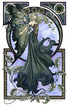 Art Print - Green Faerie by Amy Brown
