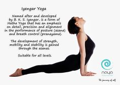We are introducing the types of #Yoga #classes we offer to help you find the right class for you. Here is a short description for #IyengarYoga.  #Hatha #yogaclasses #yogadubai #yogaindubai #yogadxb #yogabenefits #yogamotorcity #yogastudiomotorcity #nayayogaandpilates #nayayoga #dubaiyoga
