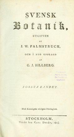 v.1 (1815) - Svensk botanik. - Biodiversity Heritage Library