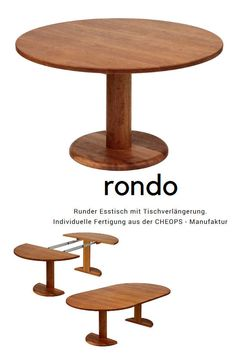 extendable round table modern design steel and timber happylab pinterest tisch esstisch. Black Bedroom Furniture Sets. Home Design Ideas