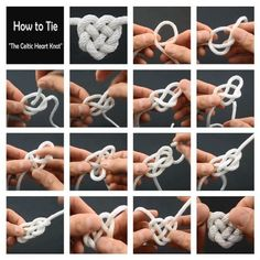 How to tie a celtic heart - #celtic #Heart #Tie