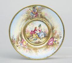 Miniature Vienna Enamel Plate