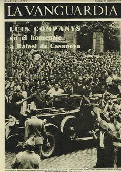 Spain - 1936. - GC -  'LA VANGUARDIA'.4 PGAS. 13 / 09 / 1936.- LUIS COMPANYS-RAFAEL DE CASANOVA