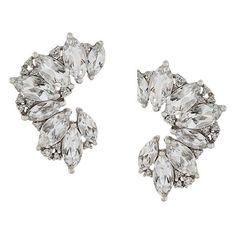 Elise Dray topaz & diamond earrings ($4,565) ❤ liked on Polyvore featuring jewelry, earrings, metallic, tear drop diamond earrings, elise dray, pin jewelry, metallic jewelry and earring jewelry