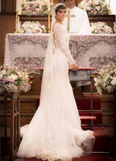 Vestido de noiva da Leticia (Isabella Santoni) em A lei do amor