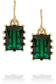 #Christmass WishlistGreen #EddieBorgo estate gold-plated crystal earrings buy directly from ZoeMagazine.net