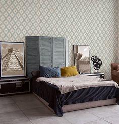 Tapet, colectia California by AS Creation Home Interior, Interior Design, Loft, Hygge, Creations, California, Retro, Bed, Wallpaper