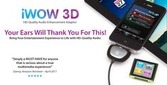 iWOW 3D for iPod, iPhone & iPad - Fantastically Immersive Sound for Music & Movies