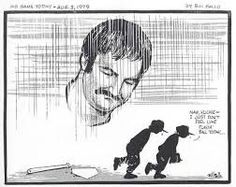 August 3, 1979, cartoon by Bill Gallo of the New York Daily News was published after the death of New York Yankees catcher Thurman Munson. (Bill Gallo - AP)