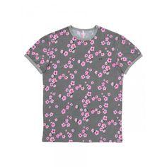 Pink flowers on green t-shirt SUN68 Man SS15 #SUN68 #SS15 #man #tshirt