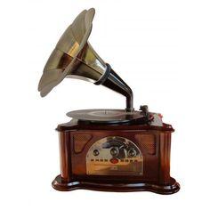 Toca-Discos De Vinil Retrô Gramophone - Americanas.com