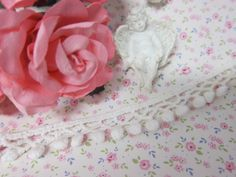 """Elegant Cotton Pom Pom Lace 0.5"""" - White by NatashaScrapbooKorner, $1.25 USD"""