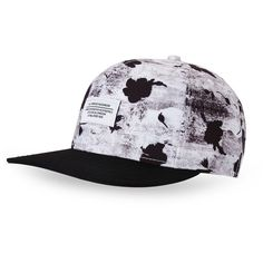 Wesc Concrete Floral Snapback Baseball Cap ($19) ❤ liked on Polyvore featuring men's fashion, men's accessories, men's hats, white, mens snapbacks, mens snapback hats, mens hats and mens baseball caps