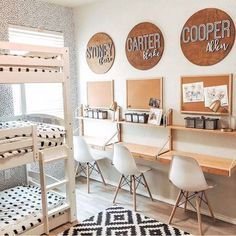 35 Fascinating Shared Kids Room Design Ideas - Planning a kid's bedroom design can be a lot of fun. It can also be a daunting task as you tackle the issue of storage and making things easy to clean. Kids Homework Room, Kids Homework Station, Kids Desk Space, Kid Desk, Study Room For Kids, Desk For Kids, Kids Workspace, Study Space, Ikea Kids Desk
