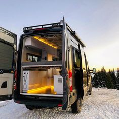 Ford Transit Camper Conversions Tips and inspiration for living in a diy ford transit campervan conv Ford Transit Campervan, Ford Transit Camper Conversion, Van Conversion Interior, Camper Van Conversion Diy, Van Interior, Camper Interior, Diy Camper, Sprinter Conversion, Sprinter Camper
