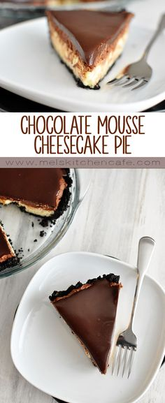 This chocolate mousse cheesecake pie is decadent. And rich. And completely delicious.