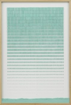 Marcius Galan Erased composition (progression) - Marcius Galan - 2013 Erasers and wooden frame