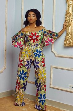 Love this design and you want to make for yourself? i have an archive of experienced designers who can make this. Also, are you a designer in need of a tailor to employ for your fashion outlet ? Call or whatSapp Gazzy Fashion Consults on Latest African Fashion Dresses, African Dresses For Women, African Print Dresses, African Attire, African Wear, African Women, African Prints, African Jumpsuit, Ankara Jumpsuit