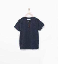 ZARA - KINDEREN - Organisch katoenen shirt met polosluiting.
