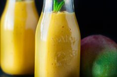 Mango lassi with saffron makes a delicious spring drink.
