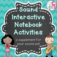 These interactive activities can be used to supplement your sound unit with any mentor text, or even your Science text book! It provides a more engaging way for your students to take notes, and a great way for them to study later! There is an activity for each of the following: sound waves sound travels through materials pitch and volume frequency and amplitude light vs. sound comparison Answer keys are included! ... Interactive Activities, Science Resources, Interactive Notebooks, Mentor Texts, You Sound, Sound Waves, Teacher Newsletter, Teacher Pay Teachers, Textbook