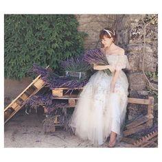 Violette  La Flore de HARUNA KOJIMA  @foursis_official  #weddingdress#dress  #provance#violette