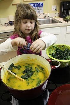 Easy Vegan Butternut Squash and Kale Soup