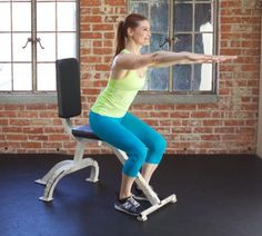 squat to chair exercise