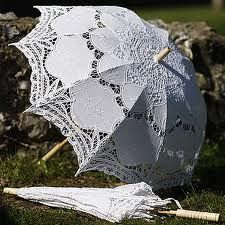Francesca White Lace Edwardian Victorian Parasol. I could protect my skin and look elegant while at it.