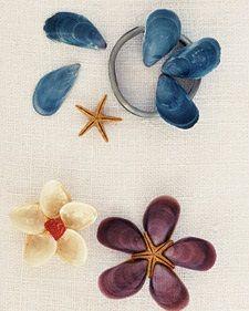 seashells flowers