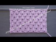 Bayan yelekleri ve bebek yelekleri için şişle örülen ajurlu damlalar örgü modelinin yapılışını paylaşacağız. Bu model ile hem yazlık hem de kışlık örgülerinizi örebilirsiniz. Baby Knitting Patterns, Knitting Stiches, Knitting Videos, Lace Knitting, Knitting Designs, Stitch Patterns, Crochet Patterns, Crochet Amigurumi, Knit Crochet