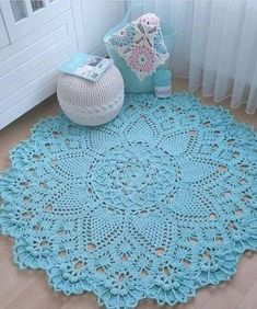 Crochet rug crochet carpet doily lace rug by eMDesignBoutique how to crochet shawl 1 This Pin was discovered by Moz Gorgeous Doesnt Look Like Patterns Crochet May The Miracle Oval Ma Rugs ndi crocheted: Maganizo a 25 + malingaliro opanga zinthu Crochet Doily Rug, Crochet Carpet, Crochet Rug Patterns, Crochet Home, Crochet Stitches, Knit Crochet, Easy Patterns, Diy Crochet Dress, Crochet Coaster