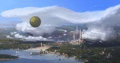 Clouds City2, Yongsub Noh (YONG) on ArtStation at https://www.artstation.com/artwork/ObGK