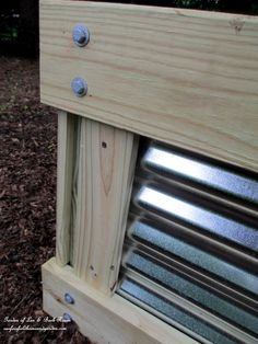 Build A Raised Bed Garden ~ Our Fairfield Home and Garden   http://ourfairfieldhomeandgarden.com/salvaged-the-32-shutter-challenge-repurposing-shutters-in-the-garden/