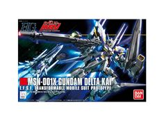 Model kit - Gunpla of Gundam Delta Kai (MSN-001X) from Mobile Suit Gundam Unicorn. 1/144 scale (High-Grade) model that must assembled (includes all snap-in parts and stickers) made of PVC material by Bandai. Includes detailed assembly instructions.