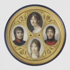 Hortense Beauharnais Bonaparte, Napoleon's stepdaughter and sisterinlaw, the daughter of his wife Josephine, and the wife of his brother Louis. She and Louis had two sons who survived childhood: Napoleon-Louis (on the left) and Charles-Louis-Napoleon (right). She dedicated her life to her children's advancement: Napoleon-Louis was Napoleon's heir until his death; Charles-Louis-Napoleon became Napoleon III.