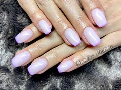 Lila French Nägel Beauty, Lilac, Nail Studio, Nice Asses, Beauty Illustration