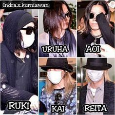 the GazettE Taipei International Airport. Ruki loves to hide himself. Just show off the beauty of your face, darling Kai, Ruki The Gazette, Kei Visual, Drum Band, Airport Photos, Best Rock Bands, Gackt, One Ok Rock, Photo Makeup