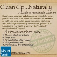 Natural house cleaners